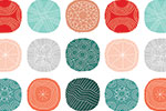 Cristina De Lera Illustration - cristina, de lera, digital, photoshop, illustrator, colourful, bright, mark making, licensing, repeat pattern, gift wrap, wrapping paper, circles, shapes