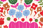 Cristina De Lera Illustration - cristina, de lera, digital, photoshop, postcard, illustrator, colourful, bright, licensing, repeat pattern, gift wrap, wrapping paper, floral, flowers, detail, bright,