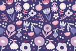 Cristina De Lera Illustration - cristina, de lera, digital, photoshop, postcard, illustrator, colourful, bright, licensing, repeat pattern, gift wrap, wrapping paper, repeat pattern, floral, flowers, blossom, pretty, petals, leaves, design