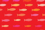 Ciara Ni Dhuinn Illustration - ciara, de dhuinn, licensing, digital, photoshop, illustrator, repeat patter, gift wrap, wrapping paper, wallpaper, wall covering, fish, nautical, swimming, bright, bold