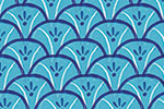 Ciara Ni Dhuinn Illustration - ciara, de dhuinn, licensing, digital, photoshop, illustrator, repeat pattern, gift wrap, wrapping paper, plants, bold, bright, wallpaper, wall covering, nautical, waves, sea, ocean,