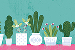 Cristina De Lera Illustration - cristina, de lera, digital, photoshop, postcard, illustrator, colourful, bright, licensing, repeat pattern, gift wrap, wrapping paper flowers, floral, text, pattern, colour, petals, leaves, design, cactus, cacti