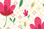 Eglantine Ceulemans Illustration - eglantine, ceulemans, digital, photoshop, wrap, wrapping paper, repeat pattern, detail, pattern, floral, flowers, pretty, petals, leaves, shapes
