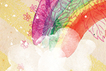 Emily Hamilton Illustration - emily, hamilton, emily hamilton, digital, photoshop, illustrator, post card, greetings card, licensing, art licensing, texture, rainbow, colourful, clouds, song, lyrics, saying, phrase, over the rainbow, flowers, floral, cute, sweet,
