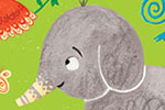 Emma Randall  Illustration - emma, randall, greetings cards, paint, painting, digital, photoshop, illustrator, birthday, card, 3, today, animals, jungle, elephant, wildlife, cute, sweet, young, gorilla, birds, tiger
