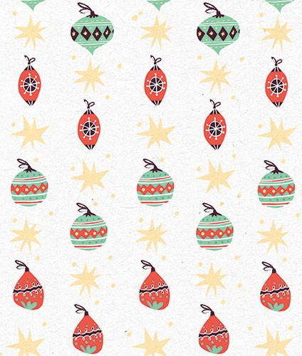 Angela Navarra Illustration - angela, nevarra, licensing, digital, photoshop, illustrator, repeat pattern, surface pattern design, gift wrap, wrapping paper, christmas, xmas, festive, holidays, gifts, presents, baubles, stars, season