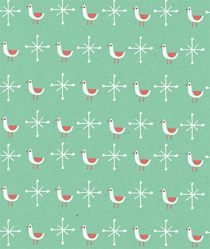 Angela Navarra Illustration - ngela, nevarra, licensing, digital, photoshop, illustrator, repeat pattern, surface pattern design, gift wrap, wrapping paper, christmas, xmas, festive, holidays, gifts, birds, snow, flakes
