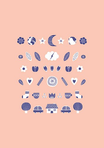 Cristina De Lera Illustration - cristina, de lera, digital, photoshop, illustrator, colourful, bright, licensing, repeat pattern, gift wrap, wrapping paper, print, home, house, homeware, world, moon, stars, trees, cars