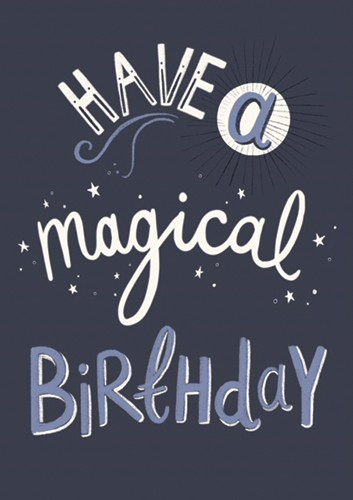 Claire Shorrock Illustration - claire, shorrock, licensing, illustration, handdrawn, card, card design, digital, text, decorative, birthday, magic, magical, birthday card,