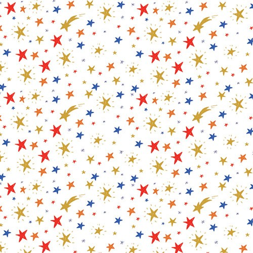 Eglantine Ceulemans Illustration - eglantine, ceulemans, digital, photoshop, wrap, wrapping paper, repeat pattern, detail, stars, celebration, birthday, shooting star, sky, night,