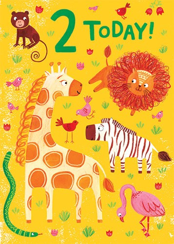 Emma Randall  Illustration - emma, randall, greetings cards, paint, painting, digital, photoshop, illustrator, birthday, card, 2, today, safari, planes, wildlife,  jungle, sand, snake, giraffe, lion, zebra, flamingo, animals, monkey, birds,