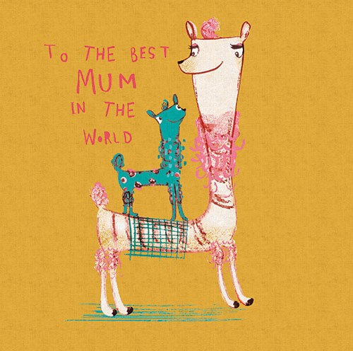 Michaela Dias-Hayes Illustration - michaela, hayes, michaela hayes, handdrawn, pencil, digital, photoshop, illustrator, post card, greeting cards, licensing, art licensing, texture, mother, mothers day, llamas, animals, wild, baby, mum, mom,