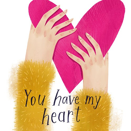 Shelly Laslo Illustration - shelly, laslo, shelly laslo, greeting cards, stationary, hand drawn colour, colourful, bright, trade, valentines, heart, text, love, hands, love heart, in love, valentine's day,