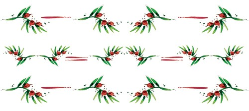Simona  Sanfilippo Illustration - simona, sanfilippo, licensing, repeat pattern, wrapping paper, card design, leaves, berries, pattern, holly
