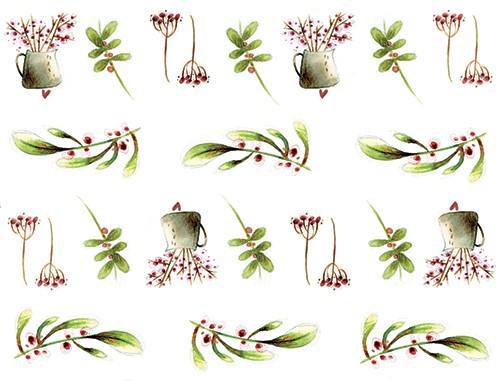 Simona  Sanfilippo Illustration - simona, sanfilippo, licensing, repeat pattern, wrapping paper, card design, jug, flowers, leaves, blossom, pattern