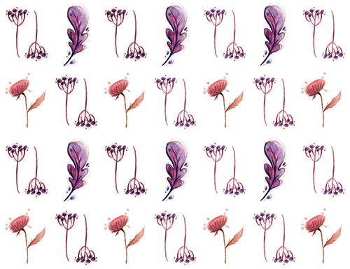 Simona  Sanfilippo Illustration - simona, sanfilippo, licensing, repeat pattern, wrapping paper, card design, leaves, pattern, flowers, blossom