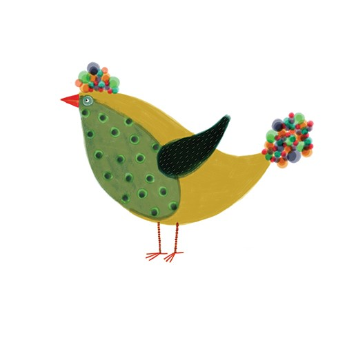 Valeria Valenza Illustration - valeria valenza, licensing, greetings cards, bird, pattern, colourful, quirky, playful, animal