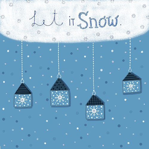 Valeria Valenza Illustration - valeria valenza, licensing, greetings cards, digital, pattern, texture, text, seasonal, festive, snow, weather, stars