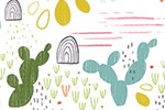 Louise  Wright Illustration - louise, wright, louise wright, digital, photoshop, illustrator, repeat pattern, surface pattern design, textiles, gift wrap, wrapping paper, plants, cactus, cacti,