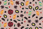 Maria  Serrano Canovas Illustration - maria, serrano, digital, photoshop, illustrator, repeat pattern, surface pattern design, gift wrap, wrapping paper, floral, flowers, petals