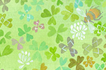 Melissa Shultz-Jones Illustration - melissa, shultz-jones, repeat pattern, surface pattern design, gift wrap, wrapping paper, plants, clover, insects