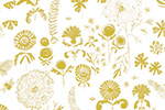Melissa Shultz-Jones Illustration - melissa, shultz-jones, repeat pattern, surface pattern design, gift wrap, wrapping paper, gold, flowers, floral,