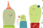 Valeria Valenza Illustration - valeria valenza, licensing, greetings cards, digital, pattern, texture, cactus, plants, cute, sweet, characters, colourful